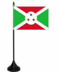 Burundi Desk / Table Flag with plastic stand and base.